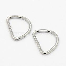 304 anneaux triangulaires en acier inoxydable, fermoirs à boucle, pour la sangle, sacs de cerclage, accessoires du vêtement, couleur inox, 12x15x1 mm, trou: 12x9 mm(X-STAS-M008-02C)