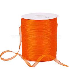 """Ruban d'organza, orange rouge , 1/4"""" (6 mm); 500yards / roll (457.2m / roll)(RS6mmY024)"""