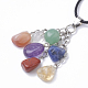 Natural & Synthetic Mixed Stone Pendant Necklaces(G-Q989-003)-3