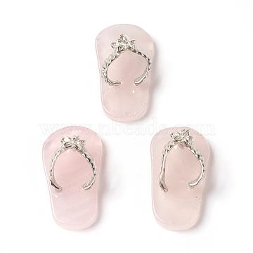 Platinum Shoes Rose Quartz Pendants