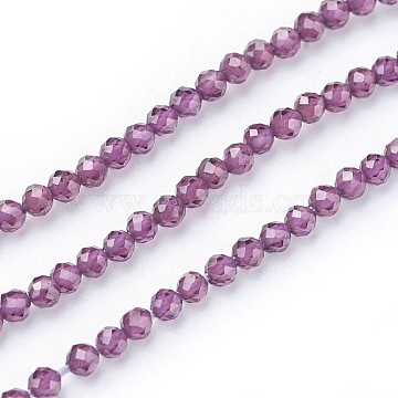 3mm Purple Round Garnet Beads