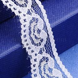 """Fil de nylon de garniture de dentelle pour la fabrication de bijoux, blanc, 3/4"""" (20 mm); 300yards / roll (274.32m / roll)(X-OCOR-I001-087)"""