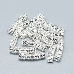 925 argent sterling perles tube, argenterie, 25.5x6mm, Trou: 4mm(STER-T002-116S)