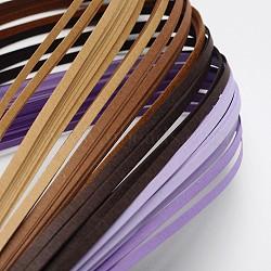Bandes de papier quilling de 6 couleurs, graduelle violet, 390x3mm; à propos 120strips / sac, 20strips / couleur(X-DIY-J001-3mm-A06)