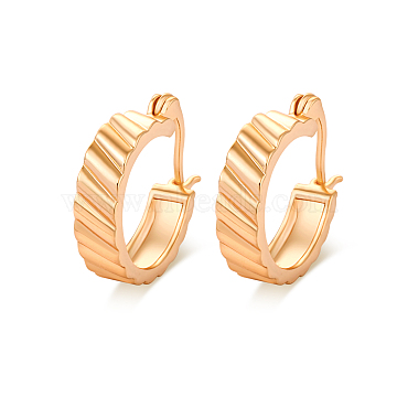 Real 18K Gold Plated Awesome Design Brass Hoop Earrings, 18x5mm(EJEW-EE0001-123)