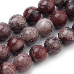 """Naturels rouges image jaspe brins de perles, rond, 6mm, trou: 1mm; environ 70 pcs/chapelet, 15.7""""(G-S259-17-6mm)"""