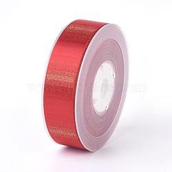"Rubans satin polyester avec double face, firebrick, 1"" (25 mm); environ 100yards / rouleau (91.44m / rouleau)(SRIB-P012-B10-25mm)"