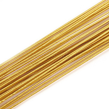 Iron Wire, Goldenrod, 24 Gauge, 0.5mm, about 1.96 Feet(60cm)/strand; 50strand/bag(MW-S002-02D-0.5mm)