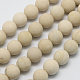 Natural Fossil Beads Strands(G-D694-6mm)-2