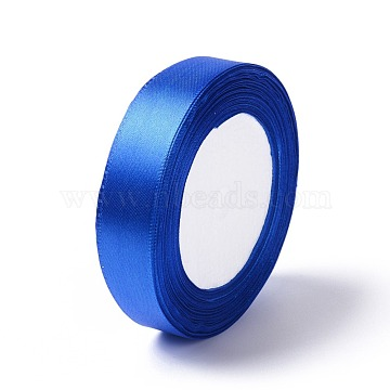 DIY Craft Hair Accessories Satin Ribbon, Royal Blue, about 3/4inch(20mm) wide, 25yards/roll(22.86m/roll)(X-RC20mmY040)