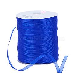 "Ruban d'organza, bleu, 1/4"" (6 mm); 500yards / roll (457.2m / roll)(RS6mmY040)"