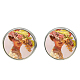 Picture Glass Stud Earrings(EJEW-O088-72)-1