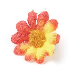tournesol en tissu de soie, tête de fleur artificielle, pour la décoration de fête de mariage, coloré, 40x16~17 mm; diamètre intérieur: 2 mm(DIY-WH0134-A08)