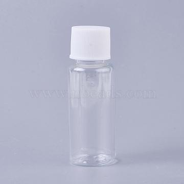 Transparent Plastic Bottle, Refillable Bottle, Clear, 2.4x6.9cm, Capacity: 20ml(MRMJ-WH0050-03)
