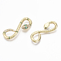 Real 18K Gold Plated Clear Snake Brass+Cubic Zirconia Cabochons(ZIRC-R019-007-NF)