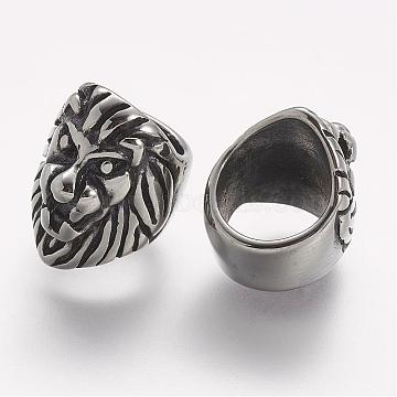 Antique Silver Lion Stainless Steel Charms