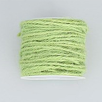 Jute Cord, Jute String, Jute Twine, for Jewelry Making, Green Yellow, 2mm, about 54.68 yards(50m)/roll(OCOR-WH0002-A-03)
