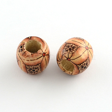 16mm Peru Barrel Wood Beads
