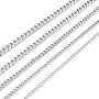 Men's 304 Stainless Steel Cuban Chain Necklace Making, with Lobster Claw Clasp and Jump Rings, Stainless Steel Color, 19.68 inches(50cm); Link: 8x6.2x1.5mm