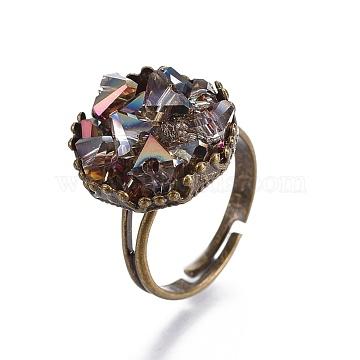 DarkKhaki Glass Finger Rings
