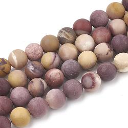"""Chapelets de perles en mookaite naturelles, mat, rond, 12mm, trou: 1.5mm; environ 30 pcs/chapelet, 15.5""""(G-T106-159)"""