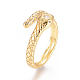 Brass Micro Pave Clear Cubic Zirconia Cuff Rings(RJEW-L097-02G)-3