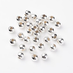 Iron Spacer Beads, Silver Color Plated, 10mm, Hole: 4mm(X-E189Y-S)