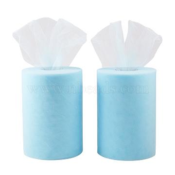 Tissu de filet, Tissu à carreaux en tulle pour la fabrication de jupe, Bleu ciel, 6 (15 cm); environ 100 yards / roll (91.44 m / roll)(OCOR-BC0009-06)