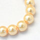 Baking Painted Pearlized Glass Pearl Round Bead Strands(X-HY-Q003-6mm-61)-2