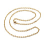 """304 Stainless Steel Necklaces, Cable Chain Necklaces, Faceted, Golden, 19.69""""(50cm)"""
