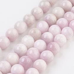 """Chapelets de perles en kunzite naturelle, rond, Grade a, 8mm, trou: 1mm; environ 47~49 pcs/chapelet, 15.2"""" (38.5 cm)(G-F568-093-8mm)"""