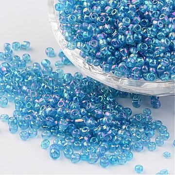 3mm Aqua Glass Beads