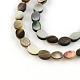 Oval Black Lip Shell Beads Strands(SSHEL-F290-34)-1