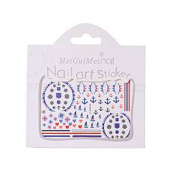 Autocollants d'ongle, auto-adhésif, autocollant, pour les décorations d'ongles, colorées, 8x5.6 cm(MRMJ-T027-01H)