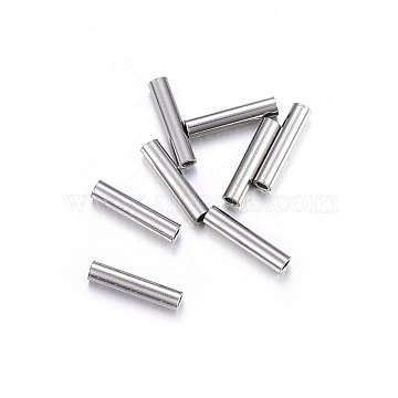 304 Stainless Steel Tube Beads, Stainless Steel Color, 7x1.5mm, Hole: 1mm(STAS-O107-07P-B)
