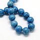Dyed Synthetic Turquoise Gemstone Bead Strands(TURQ-R032-8mm-XSS26)-1