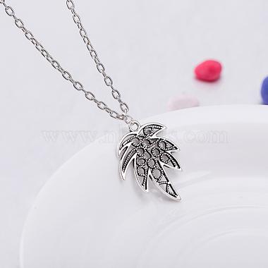 Zinc Alloy Coconut Leaf Jewelry Sets(SJEW-BB16592)-4