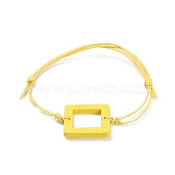 Yellow Waxed Cord Bracelets