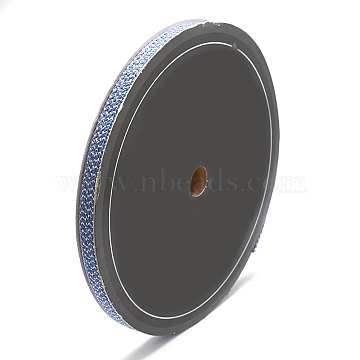Braided Nylon Ribbons, CornflowerBlue, 1/2inch(11~12mm); about 25yards/roll(22.86m/roll)(SRIB-N003-10A)
