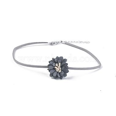 Faux Suede & Velvet Choker Necklaces(NJEW-TAC0002-A01)-4