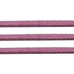 Prune ton daim cordon, dentelle de faux suède, environ 1 m de long,  largeur de 2.5 mm, environ 1.4 mm d'épaisseur, 1 m / chapelet(X-LW14193Y)