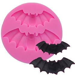 пищевые силиконовые формы, формы помады, для украшения торта поделки, шоколад, конфеты, мыло, изготовление ювелирных изделий на основе смолы и эпоксидной смолы, летучая мышь, розовый, 56x8 мм; Внутренний диаметр: 38~51 мм