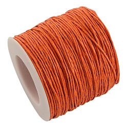воском хлопчатобумажная нить шнуры, darkorange, 1 мм; около 100 ярдов / рулон (300 футов / рулон)