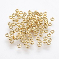 316 Surgical Stainless Steel Crimp Beads, Rondelle, Golden, 1.9mm, Hole: 1mm