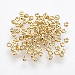 Perles à écraser en 316 acier inoxydable, rondelle, or, 1.9mm, Trou: 1mm(X-STAS-P221-25G)