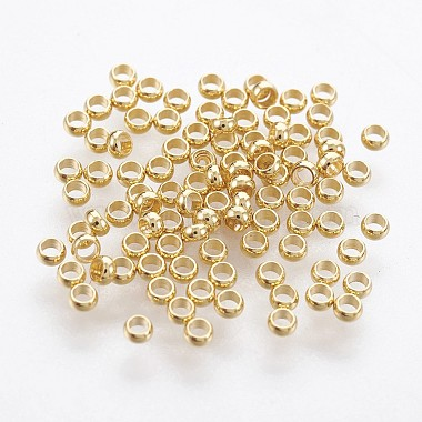 Golden Rondelle Stainless Steel Beads