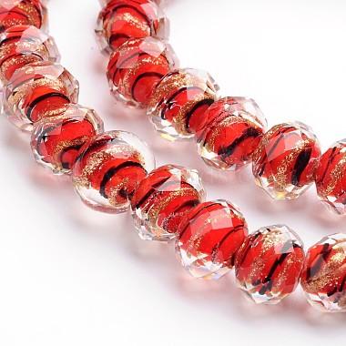 perles de roche au chalumeau faites main de sable doré(LAMP-I010-B-03)-1