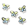 Colorful Butterfly Porcelain Beads(PORC-I011-A01)