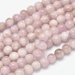 "Brins de perles rondes naturelles en kunzite / spodumène, grade AB, 8mm, trou: 1mm; environ 49 pcs/chapelet, 15.5""(G-K068-28-8mm)"