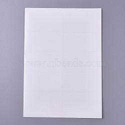 un 4 autocollant laser autocollant, avec dos adhésif, pour imprimantes jet d'encre / laser, blanc, 28x21.1x0.01 cm; 50 feuilles / sac(AJEW-WH0105-54)